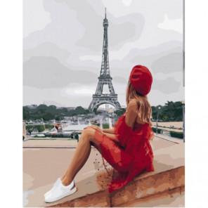 Отдых у Эйфелевой башни Раскраска картина по номерам на холсте