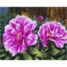 Пушистые цветы Раскраска картина по номерам на холсте