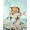 Наглый кот Раскраска картина по номерам на холсте