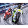 Гонки на мотоциклах Раскраска картина по номерам на холсте