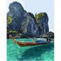 Тайский пейзаж Раскраска картина по номерам на холсте
