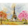 Парк у Эйфелевой башни Раскраска картина по номерам на холсте