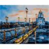 Вечерний Патриарший мост Раскраска картина по номерам на холсте