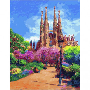 Живописная Барселона Раскраска картина по номерам на холсте