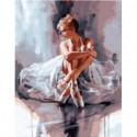 Загадочная балерина Раскраска картина по номерам на холсте
