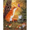 Лесные жители Раскраска картина по номерам на холсте