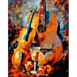 Музыкальный натюрморт Раскраска картина по номерам на холсте