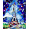 Зимние краски у Эйфелевой башни Раскраска картина по номерам на холсте