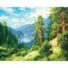 Родимый край Раскраска картина по номерам на холсте