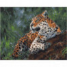 Бдительный леопард Раскраска картина по номерам на холсте