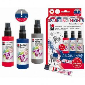 SPARKLING NIGHTS Набор красок по ткани Fashion Spray Marabu ( Марабу )