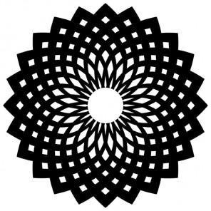 Цветок-орнамент Трафарет-силуэт Marabu ( Марабу )