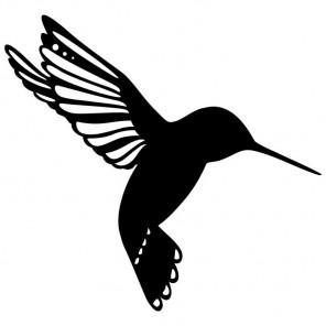 Птичка Трафарет-силуэт Marabu ( Марабу )