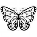 Бабочка Трафарет-силуэт Marabu ( Марабу )