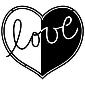 Сердце Love Трафарет-силуэт Marabu ( Марабу )