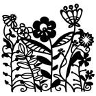 Цветы Трафарет-силуэт Marabu ( Марабу )