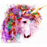 Цветочный единорог Раскраска картина по номерам на холсте