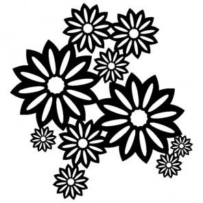 Дикие цветы Трафарет-силуэт Marabu ( Марабу )