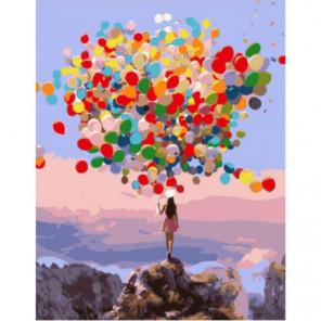 Разноцветные шары Раскраска картина по номерам на холсте