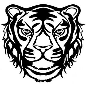 Тигр Трафарет-силуэт Marabu ( Марабу )