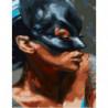 Женщина-кошка Раскраска картина по номерам на холсте