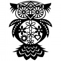 Сова с цветами Трафарет-силуэт Marabu ( Марабу )