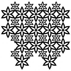 Орнамент-цветы Трафарет-силуэт Marabu ( Марабу )