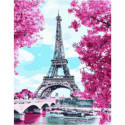 Весенняя Франция Раскраска картина по номерам на холсте