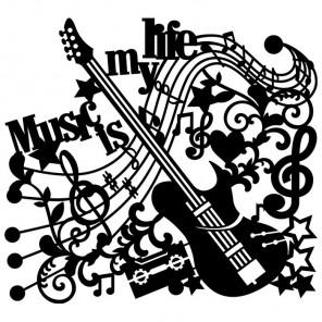 Музыка Трафарет-силуэт Marabu ( Марабу )