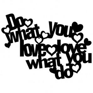 Do what you love Трафарет-силуэт Marabu ( Марабу )