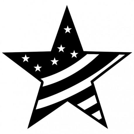 Большая звезда Трафарет-силуэт Marabu ( Марабу )