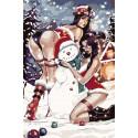 Снежный день Раскраска картина по номерам на холсте RA227