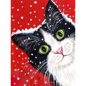 Праздничный кот Алмазная вышивка мозаика Гранни AG2446