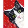 Праздничный кот Алмазная вышивка мозаика Гранни