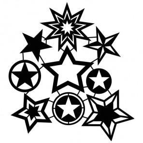 Звёзды Трафарет-силуэт Marabu ( Марабу )