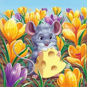 Полевая мышь Алмазная вышивка мозаика Гранни AG2452