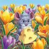 Полевая мышь Алмазная вышивка мозаика Гранни