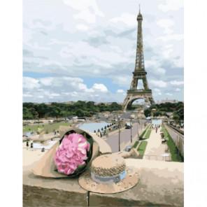 Парижский букет Раскраска картина по номерам на холсте