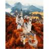 Осенний замок Раскраска картина по номерам на холсте