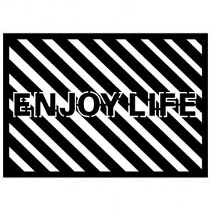 Enjoy life Трафарет-силуэт Marabu ( Марабу )