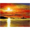 Отражение заката Раскраска картина по номерам на холсте