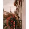 Парижский балкон Раскраска картина по номерам на холсте