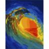 Волна на закате Раскраска картина по номерам на холсте