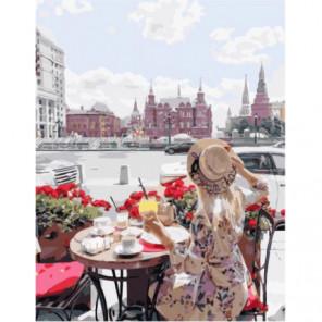 В кафе на Красной площади Раскраска картина по номерам на холсте