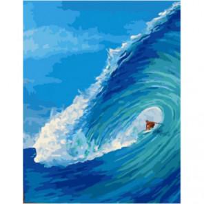 Сильная волна Раскраска картина по номерам на холсте