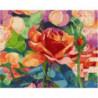 Блики розы Раскраска картина по номерам на холсте