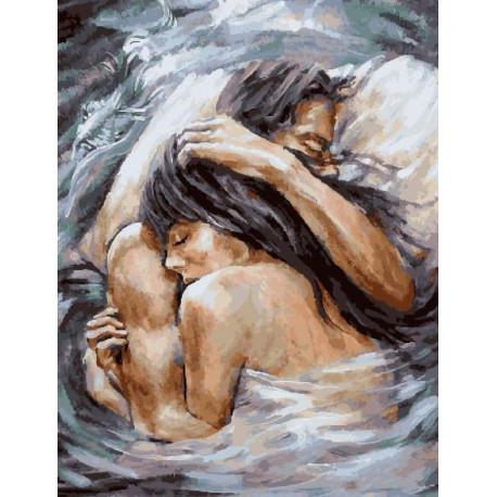 Прикосновения любви Раскраска картина по номерам на холсте