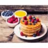 Панкейки с ягодами Раскраска картина по номерам на холсте