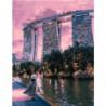 Сингапурский отель Раскраска картина по номерам на холсте
