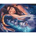 Сладкий сон наездницы Раскраска картина по номерам на холсте